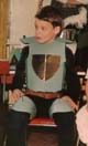 Gergely Vass knight costume in the kindergarten